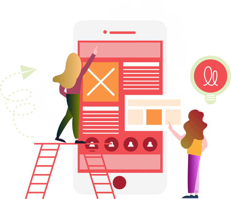 Attract customers through vibrant illustrations and useful content